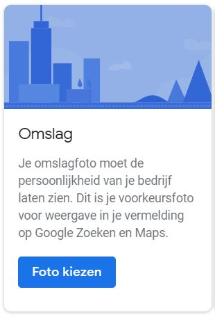 Nieuwe opties in Google Mijn Bedrijf