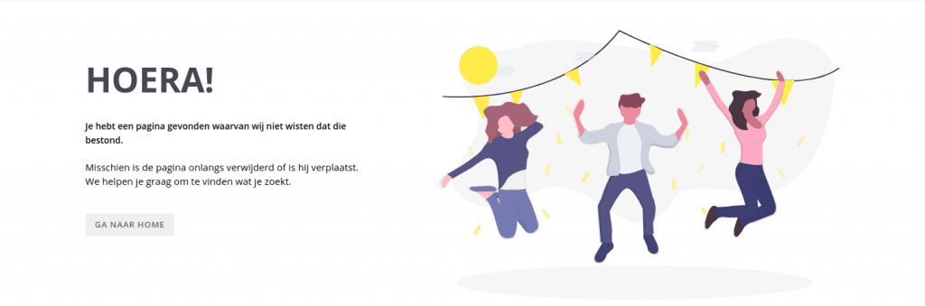 Vernieuwde 404 pagina in Crossretail