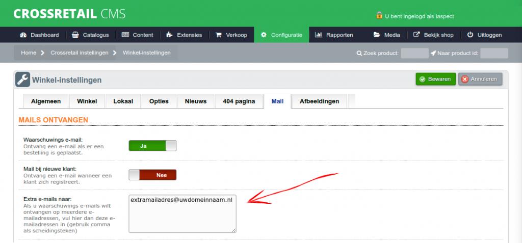 Screenshot-extramailinstellingen-config